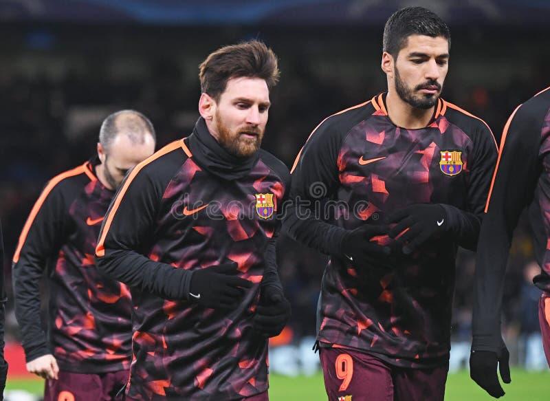 Lionel Messi et Luis Suarez image libre de droits