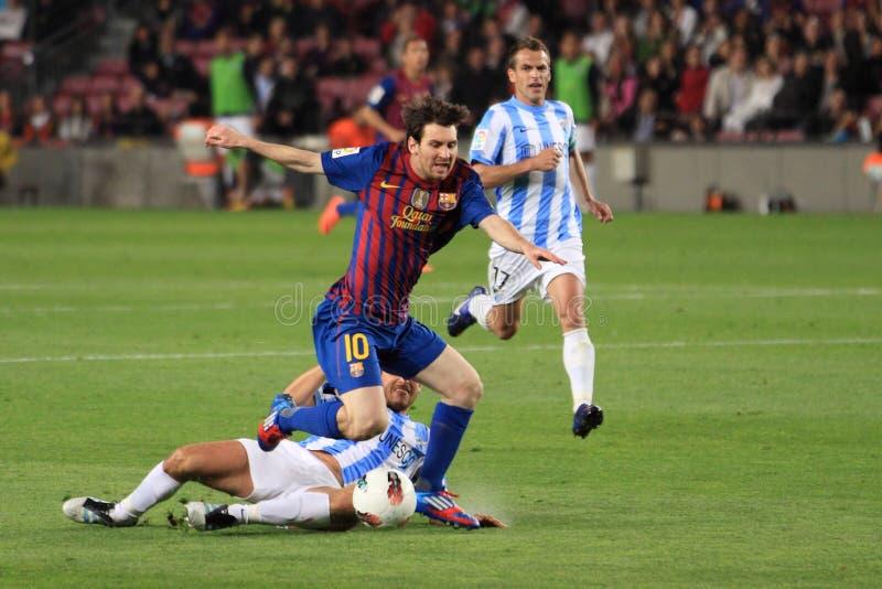 Lionel Messi - FC Barcelona arkivfoto