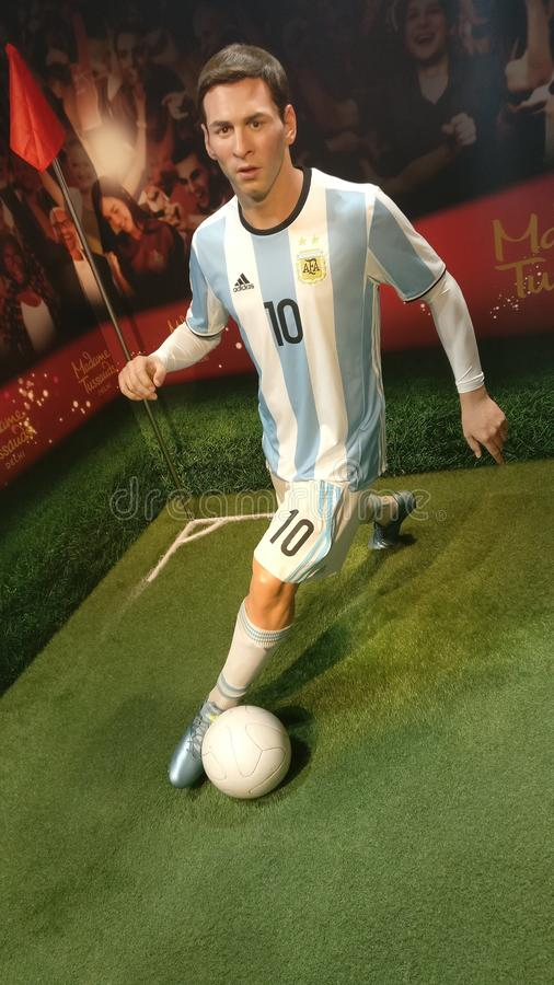 Lionel Messi an Madame Tussauds stockfotos