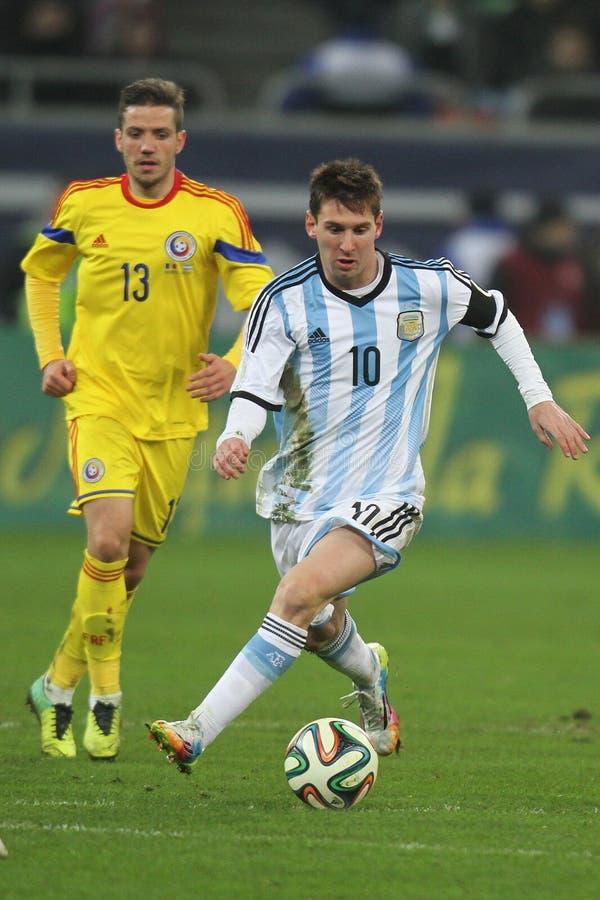Lionel Messi na ação foto de stock