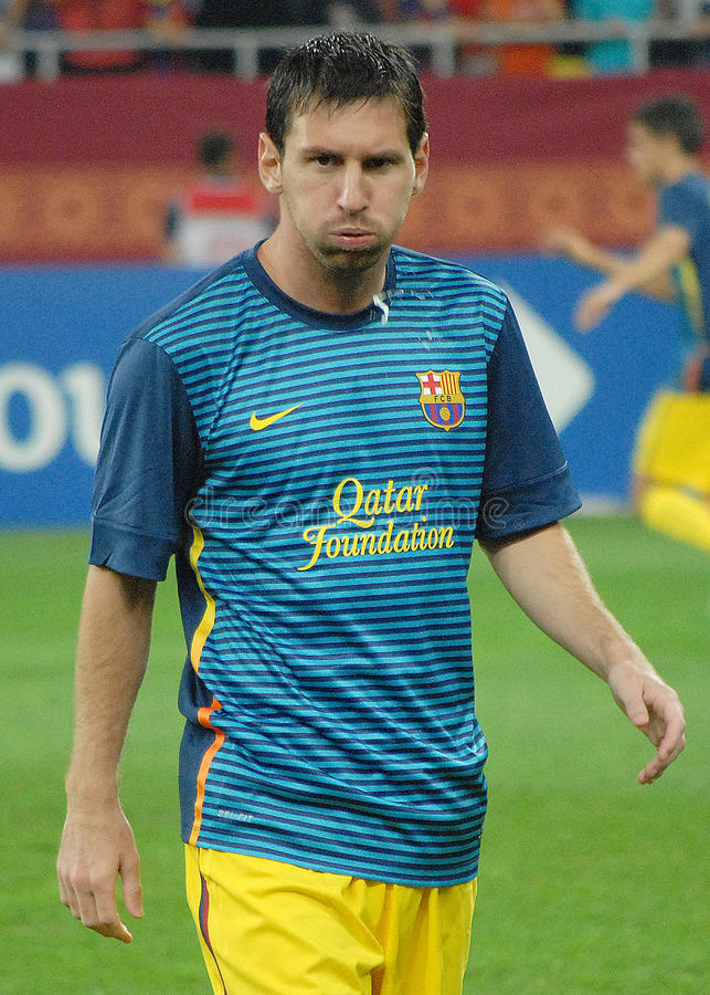Lionel Messi Spits photographie stock