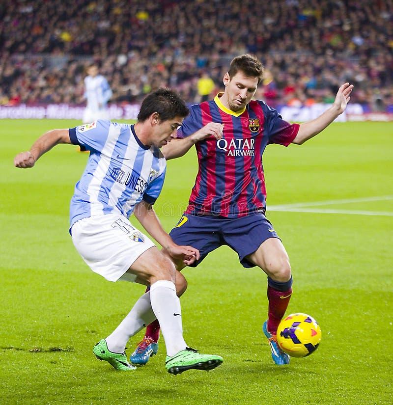 Lionel Messi w akci obraz stock
