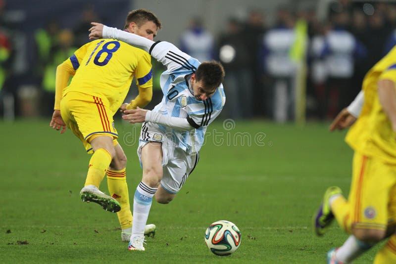 Lionel Messi w akci fotografia royalty free