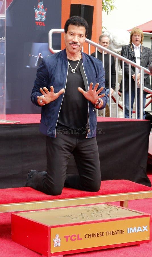 Lionel Richie imagen de archivo libre de regalías
