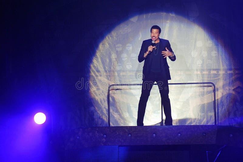 Lionel Richie. US singer Lionel Richie during his performance in Prague, October 20, 2012 stock images