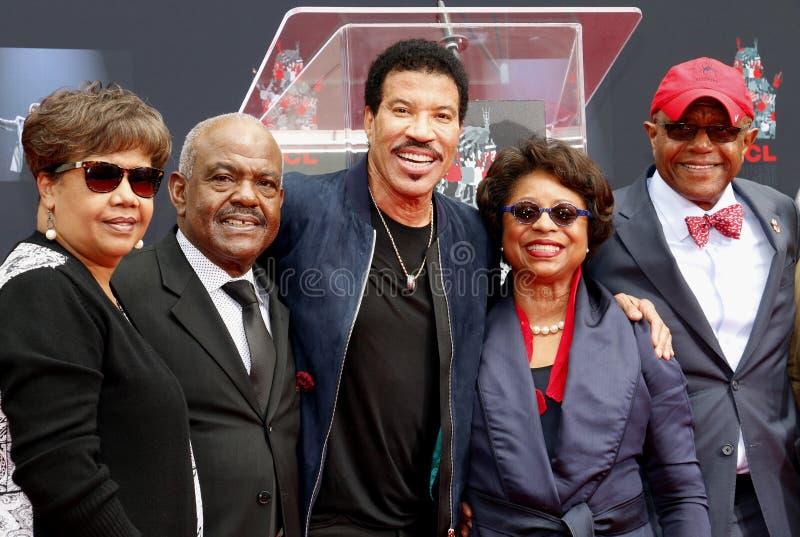 Lionel Richie et invités photos libres de droits