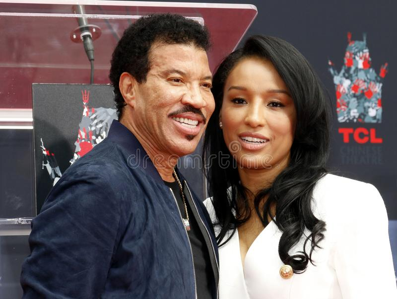 Lionel Richie et Lisa Parigi images stock