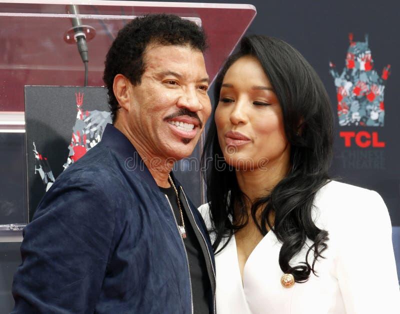 Lionel Richie et Lisa Parigi images libres de droits