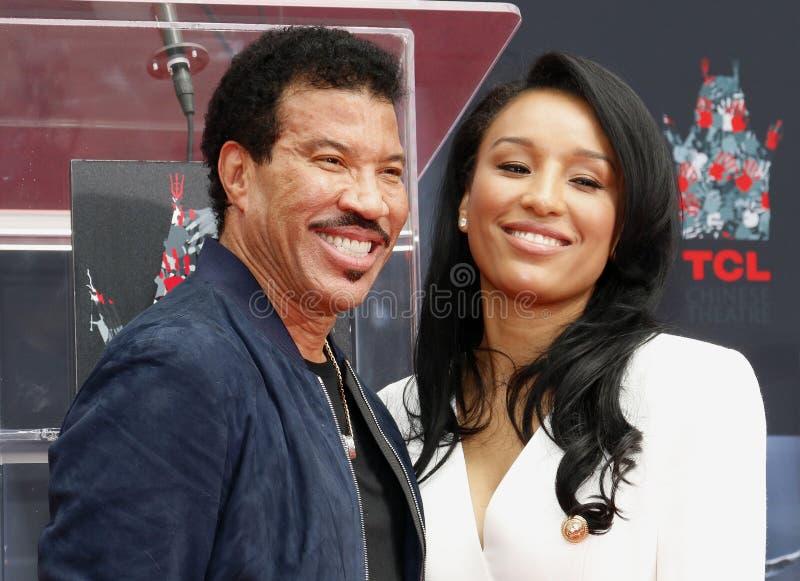 Lionel Richie et Lisa Parigi image libre de droits