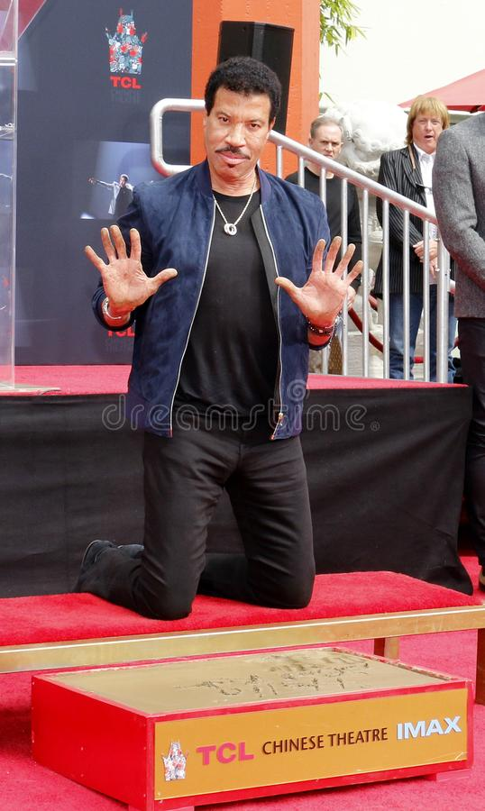 Lionel Richie. At  Hand And Footprint Ceremony held at the TCL Chinese Theatre in Hollywood, USA on March 7, 2018 royalty free stock photography