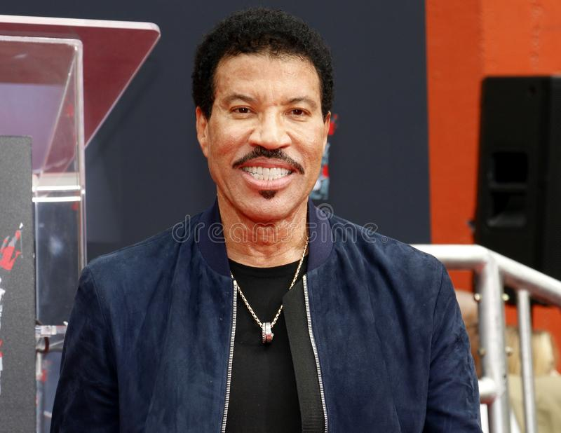 Lionel Richie. At  Hand And Footprint Ceremony held at the TCL Chinese Theatre in Hollywood, USA on March 7, 2018 royalty free stock photos