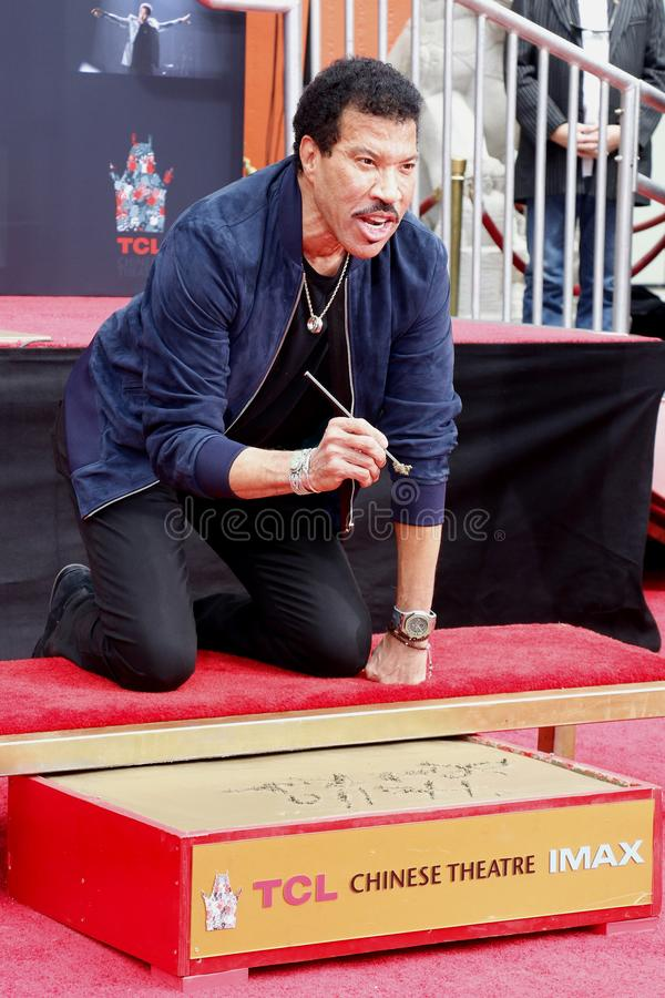 Lionel Richie. At  Hand And Footprint Ceremony held at the TCL Chinese Theatre in Hollywood, USA on March 7, 2018 stock photo