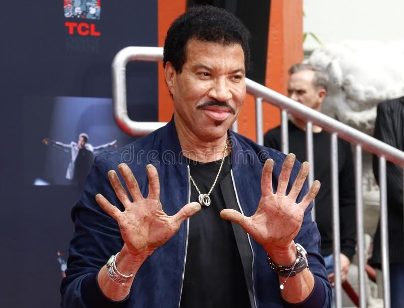 Lionel Richie. At  Hand And Footprint Ceremony held at the TCL Chinese Theatre in Hollywood, USA on March 7, 2018 royalty free stock images