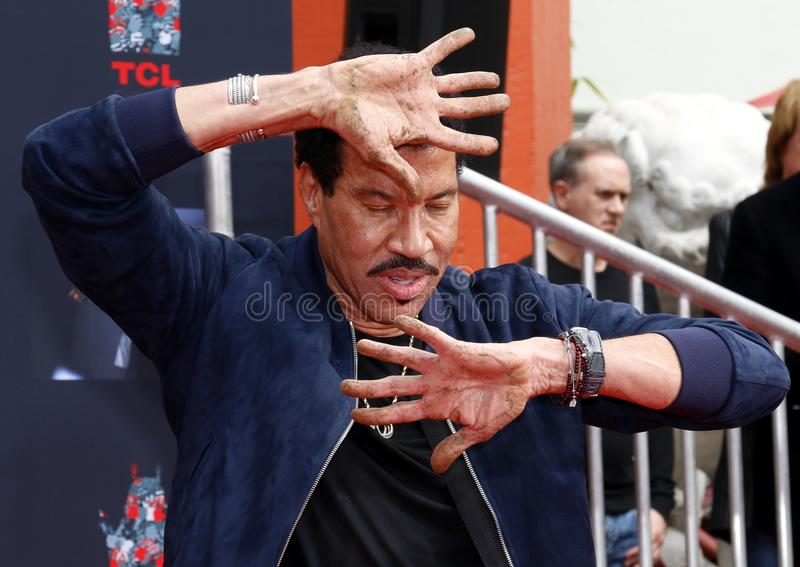 Lionel Richie. At  Hand And Footprint Ceremony held at the TCL Chinese Theatre in Hollywood, USA on March 7, 2018 stock photography