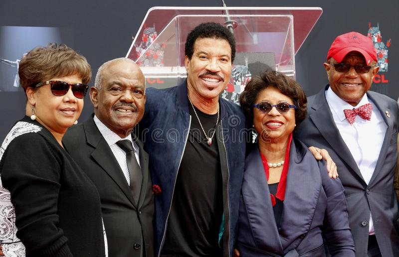 Lionel Richie. At  Hand And Footprint Ceremony held at the TCL Chinese Theatre in Hollywood, USA on March 7, 2018 royalty free stock photo