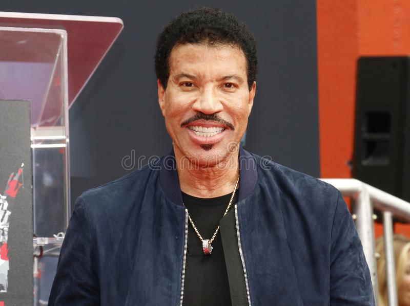 Lionel Richie. At  Hand And Footprint Ceremony held at the TCL Chinese Theatre in Hollywood, USA on March 7, 2018 stock photos