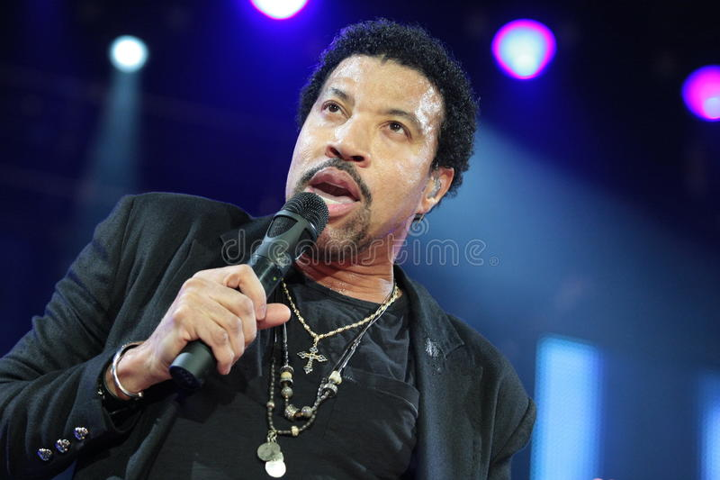 Lionel Richie performing Live at teh O2 in London. Performer, artist dancer and singer performer, artist and singer Lionel Richie performing live at the O2 in royalty free stock photography