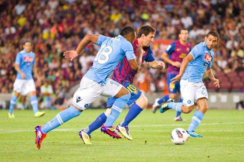 Lionel w akci Messi zdjęcia stock