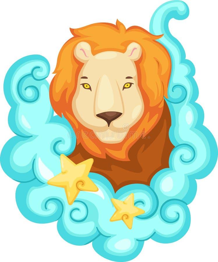 lionen undertecknar zodiac vektor illustrationer