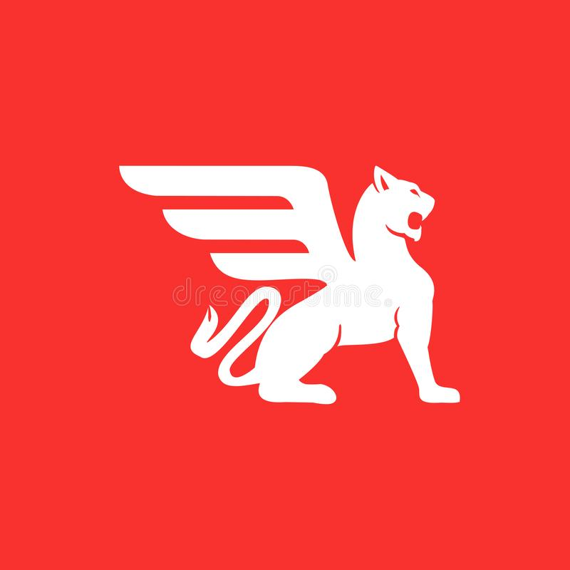 Liones Heraldic Logos royalty free stock image