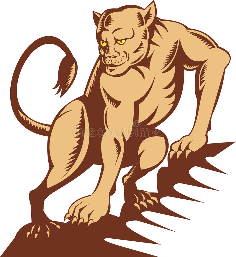 Download Lioness on the prowl stock illustration. Image of predator - 11462424