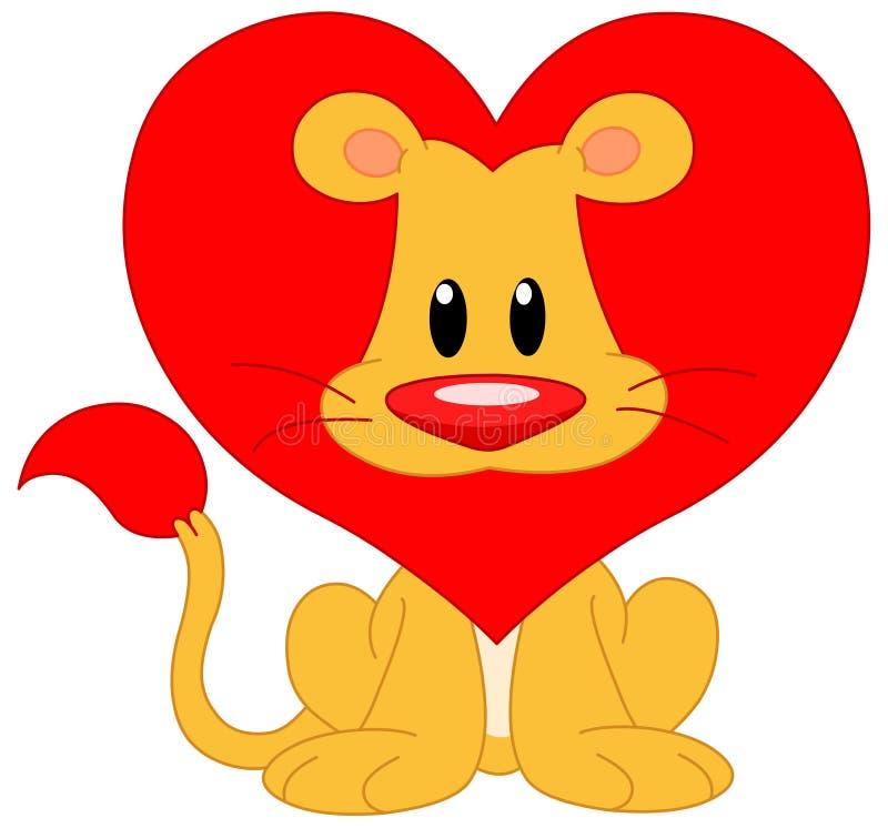lionförälskelse royaltyfri illustrationer