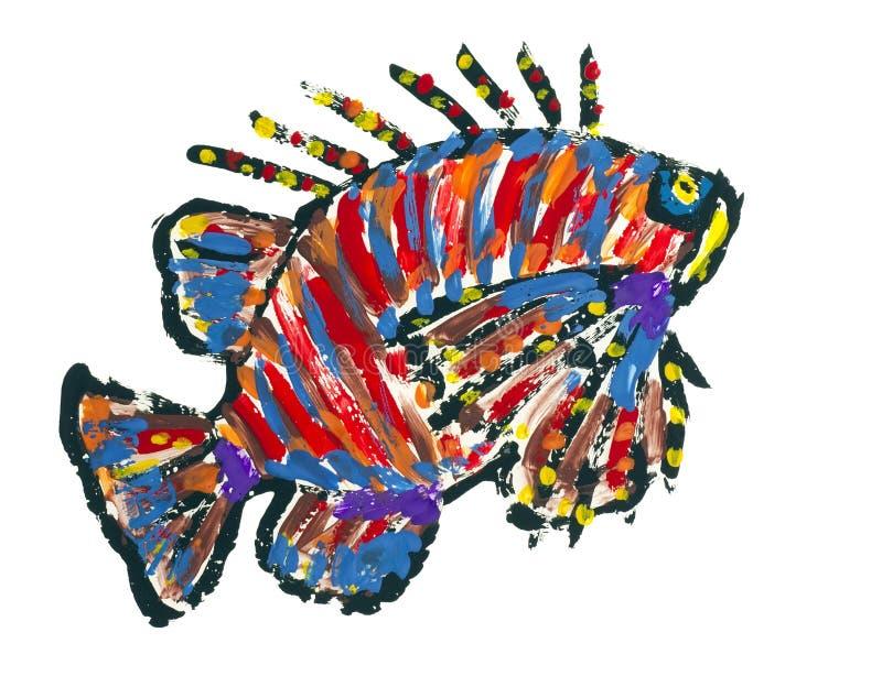 Lionfish Scoprionfish abstraktes Bild lizenzfreie abbildung