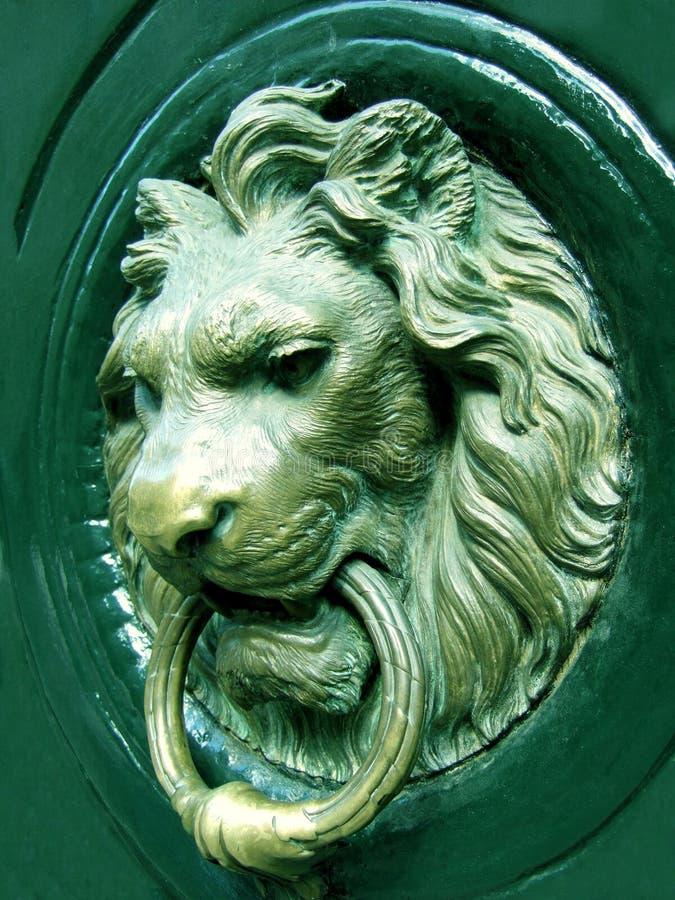 lionhead knocker obraz royalty free