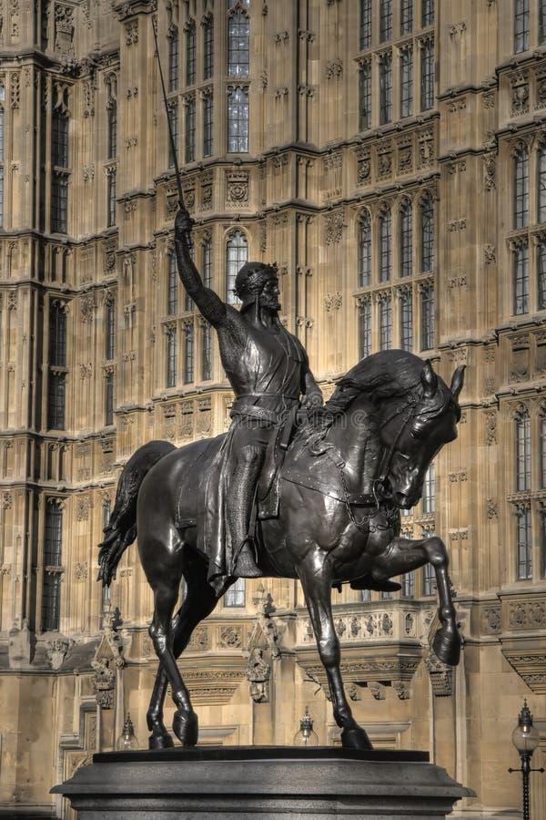 lionheart Richard statua obraz stock