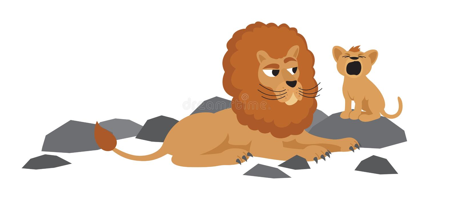 Download Lions stock vector. Image of father, family, toddler - 11386382