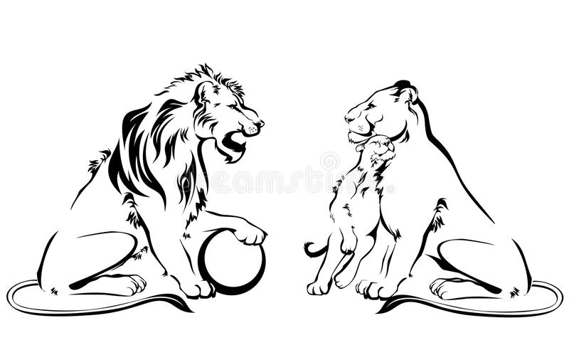 Download Lions stock vector. Illustration of talisman, king, beasts - 26975594