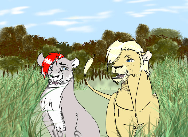 lions image libre de droits