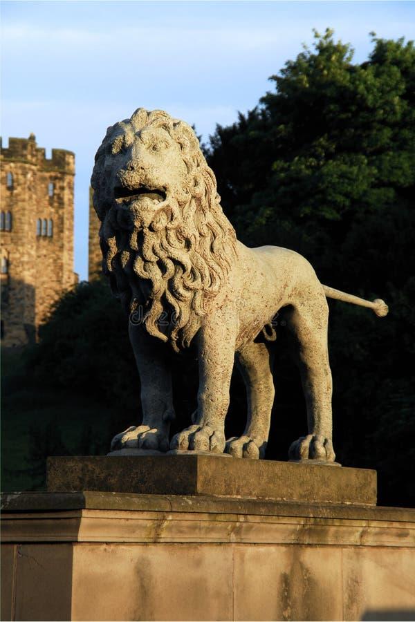 The Lions Bridge, Alnwick Castle stock photo