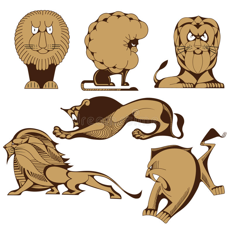 Download Lions Collection Stock Photos - Image: 34842063