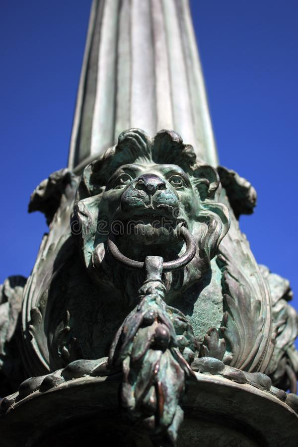 Lions are different. Some of them decorate parks and fountains royalty free stock photos