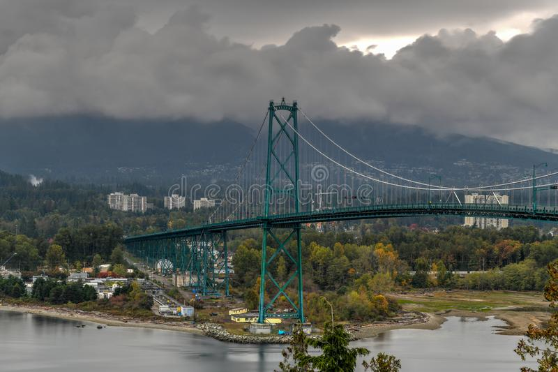 Lions Gate Bridge - Vancouver, Canada royalty free stock images