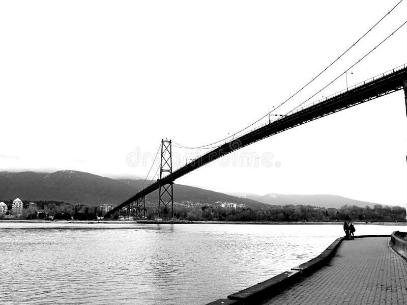 Lions gate bridge stock photography