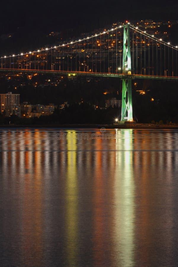 Download Lions Gate Bridge Night Reflection Stock Photo - Image: 36963490