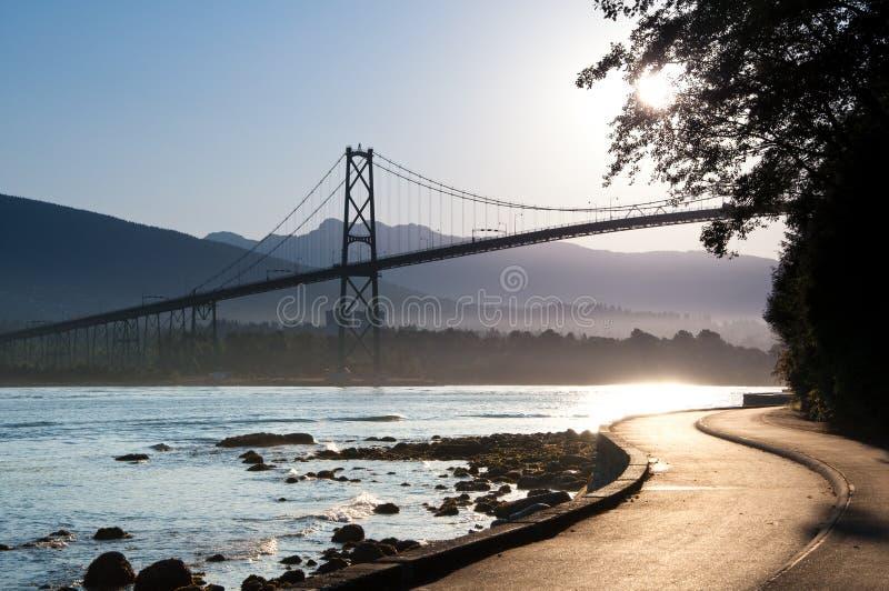 Lions Gate Bridge, Vancouver. stock photo