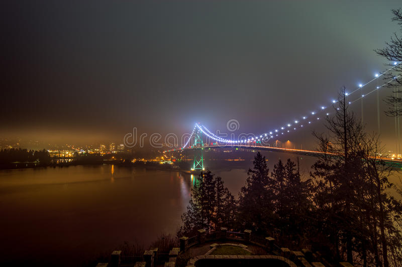 Lions Gate Bridge in Vancouver royalty free stock photo