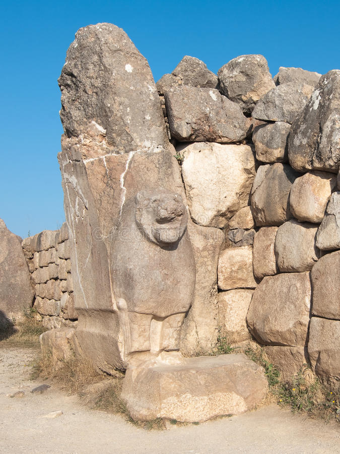 Lions Gate Of Hattusa, Turkey royalty free stock images