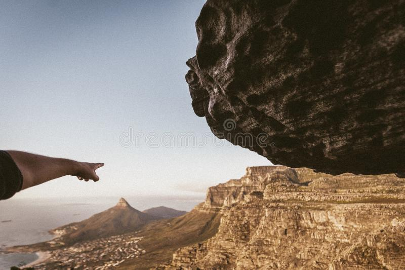 Lions Head in the distance royalty free stock photography