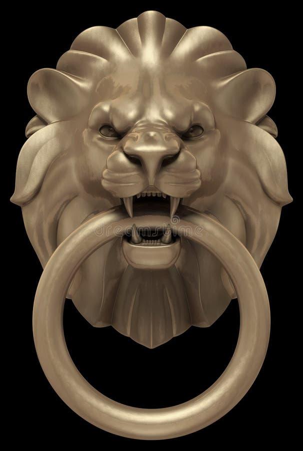 Lions Head Door Handle vector illustration