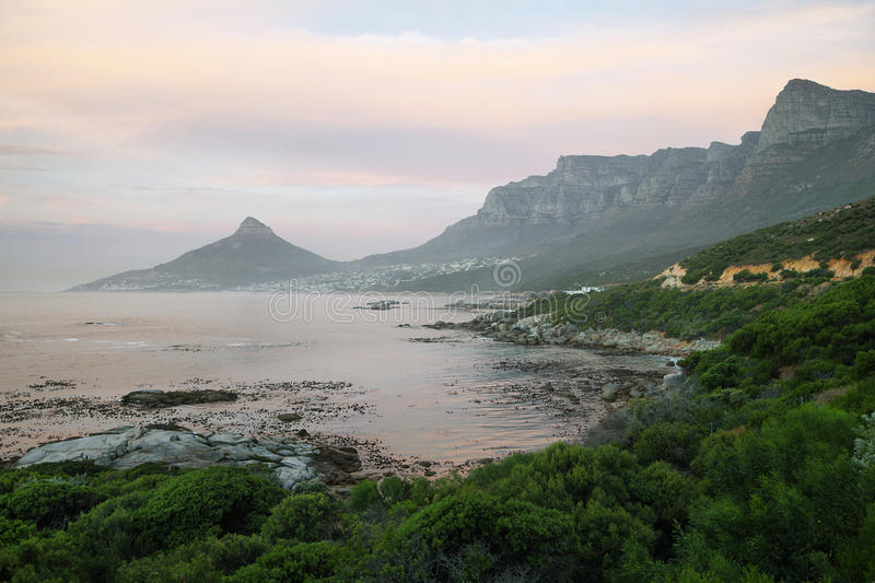 Lions head and twelve apostles near Camps Bay royalty free stock photos