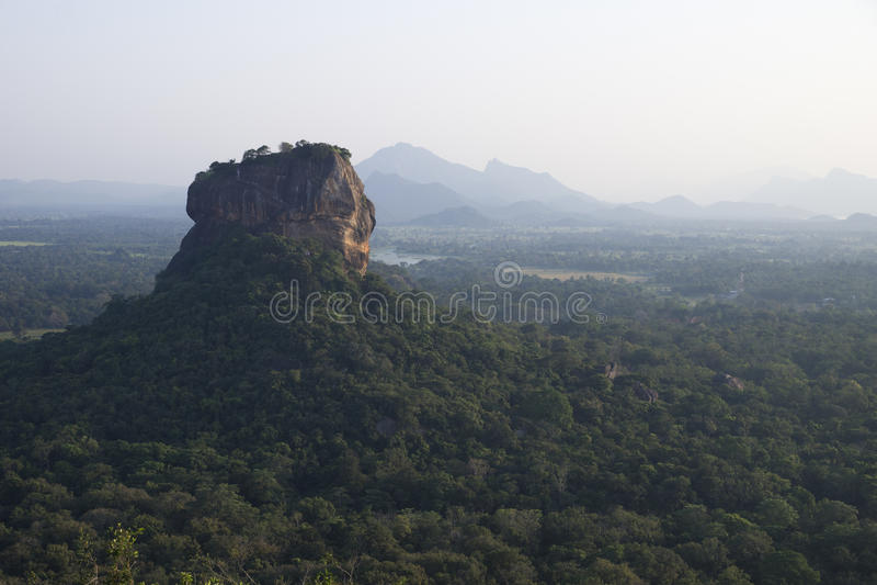 Lions Rock Sigiriya, Sri Lanka. View to Lions Rock Sigiriya royalty free stock photos