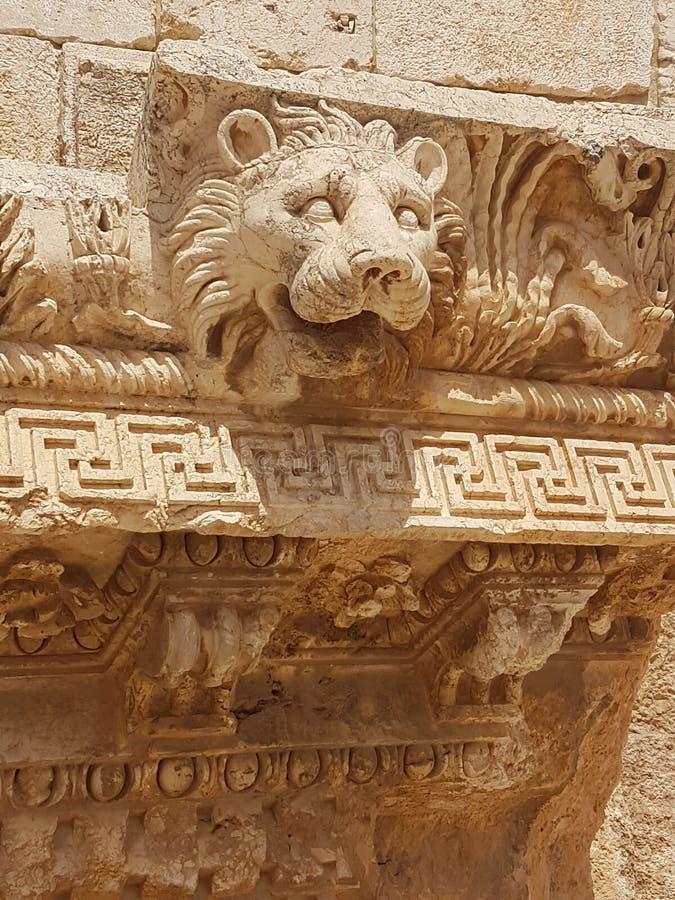 Lionshead antique de lion d'empire romain photos stock