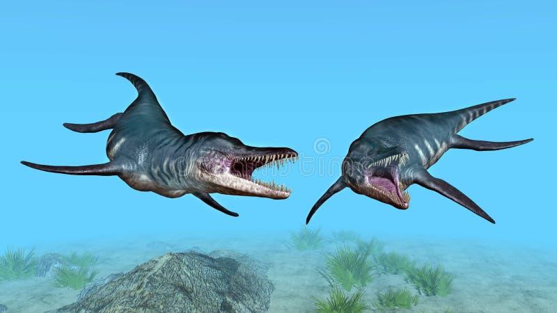Liopleurodon vector illustratie