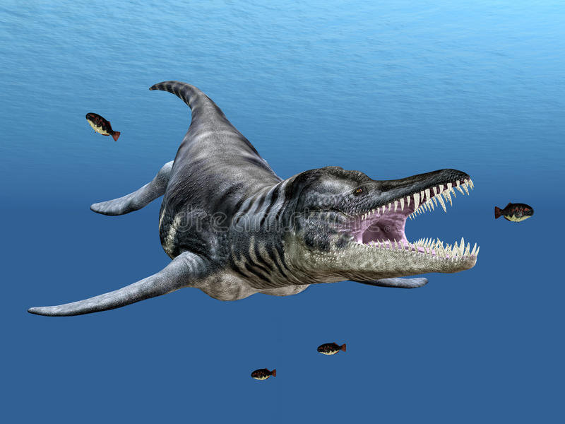 Liopleurodon illustrazione di stock