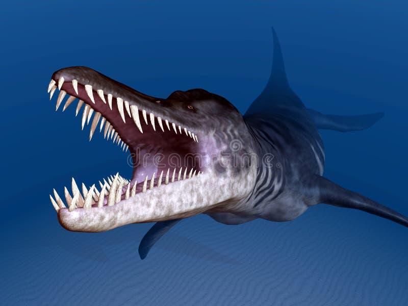 Liopleurodon ilustración del vector