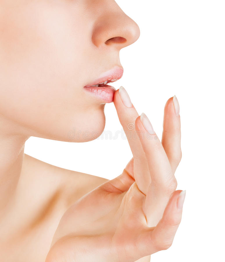 Download Lip balm stock photo. Image of mouth, face, isolated - 30363508